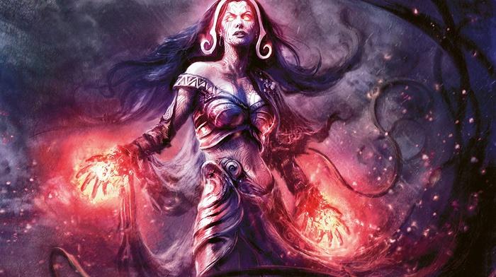 liliana vess, magic the gathering, fantasy art