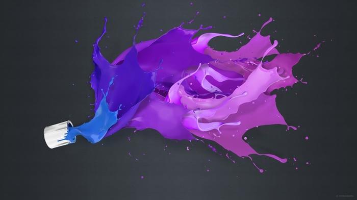 purple, Adobe Photoshop, black background