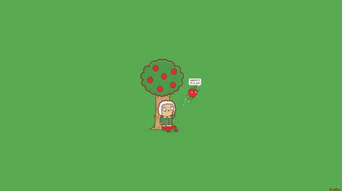 green, science, trees, simple, humor, apples
