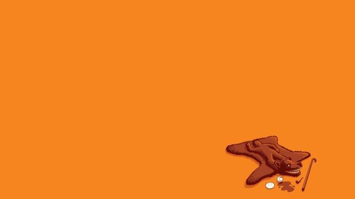 humor, minimalism, orange, threadless, simple, bears