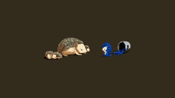 humor, Sonic the Hedgehog, hedgehog, minimalism, threadless, simple