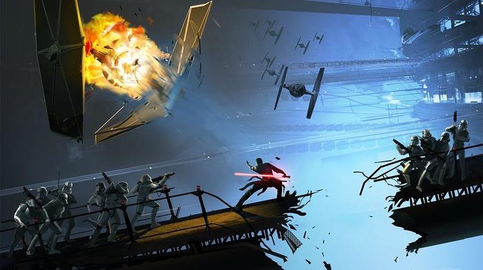 Star Wars The Force Unleashed, Star Wars, clone trooper, jedi