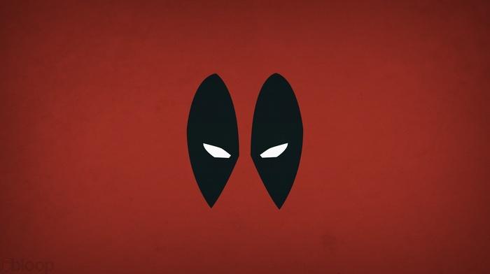 Deadpool, superhero, heroes, minimalism, Blo0p, anime