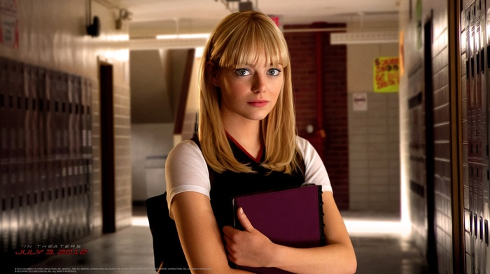 spider, man, redhead, The Amazing Spider, Emma Stone, girl, Gwen Stacy