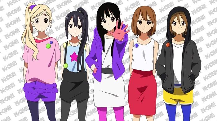 anime, K, on, Tainaka Ritsu, Akiyama Mio, anime girls, Hirasawa Yui, Nakano Azusa, Kotobuki Tsumugi