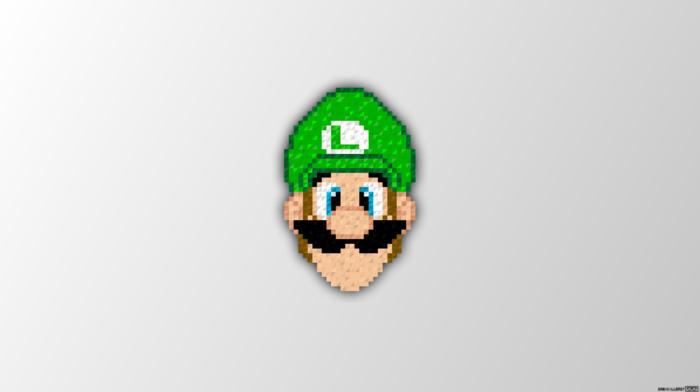 Luigi, trixel, pixel art, Super Mario