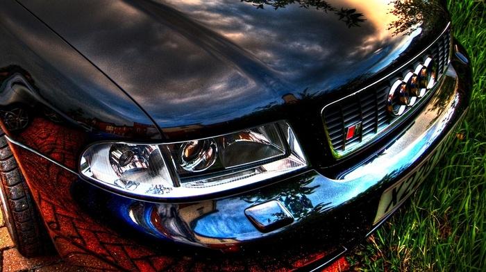 автомобили, капот, отражение, бампер, хром, audi