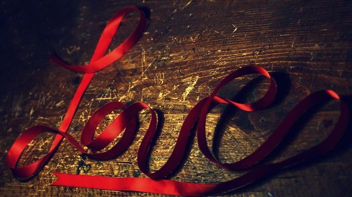 ribbon, love, board