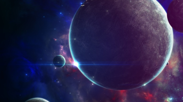 galaxy, space, planet, universe, space art