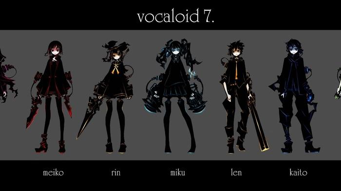 Vocaloid, Megpoid Gumi, Kaito, Meiko, Megurine Luka, Kagamine Rin, Kagamine Len, Hatsune Miku