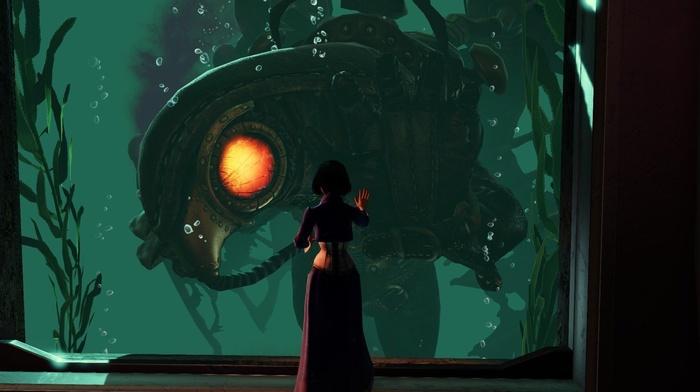 Songbird BioShock, BioShock Infinite, sea, BioShock, video games, Rapture, elizabeth bioshock