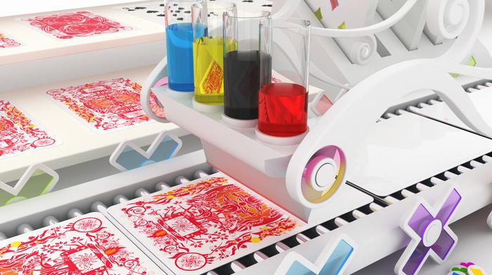 paints, red, colors, 3D