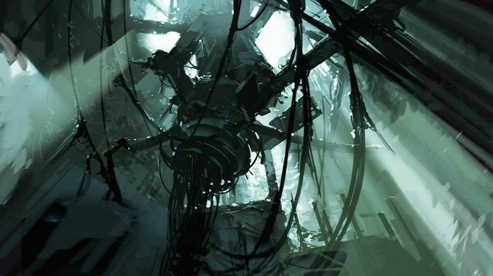 artwork, video games, Portal, Valve Corporation, Portal 2, GLaDOS, concept art