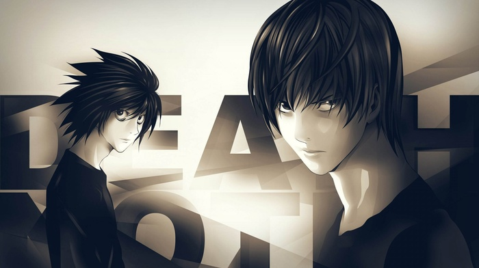 anime, Death Note, Lawliet L, Light Yagami