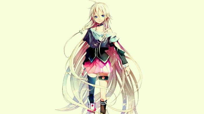 блондинка, голубые глаза, аниме, девушки из аниме, Вокалоид, длинные волосы
