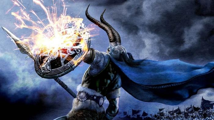 Amon Amarth, horns, loki, spear, metal music, vikings, heavy metal, shields, music