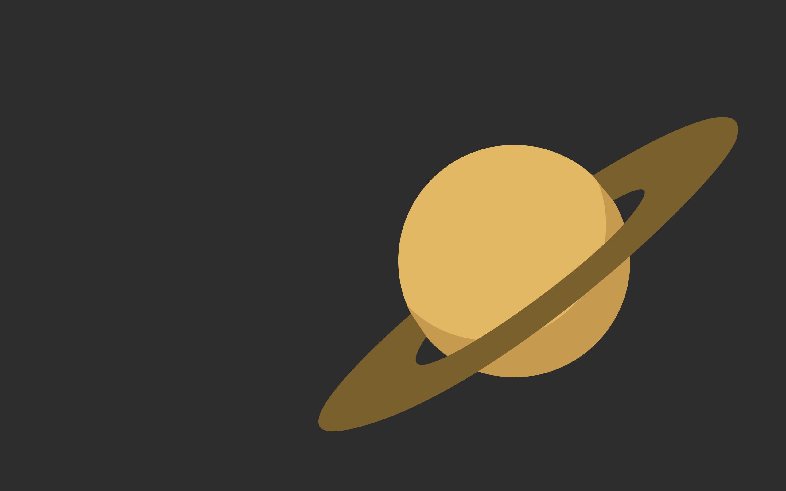 Vectors Space Minimalism Saturn Planet
