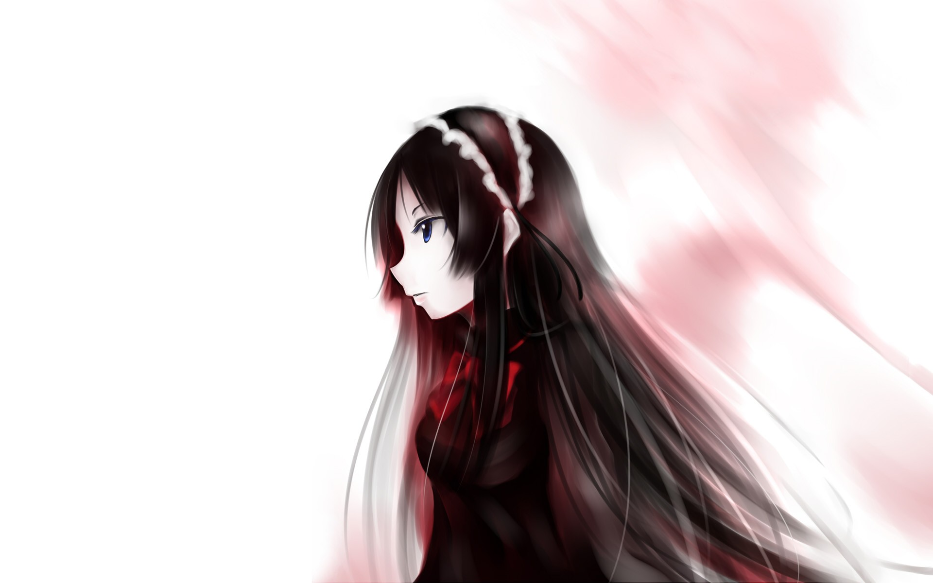 Аниме девушки с чёрными волосами фото