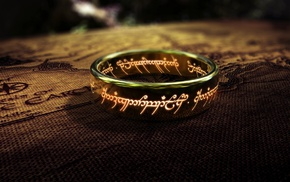 depth of field, The One Ring, fantasy art, The Lord of the Rings, map, rings
