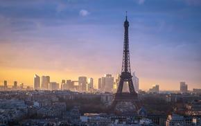 Франция, Эйфелева башня, городской пейзаж, Париж