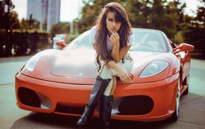 girl, Ferrari, Ferrari F430, Natalya Ignatenko