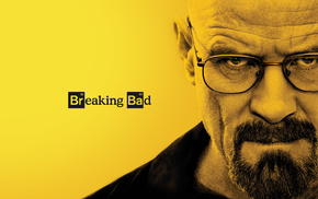 Bryan Cranston, Walter White, Breaking Bad, yellow background