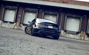 garages, sports car, Audi S5, anime, car, Audi