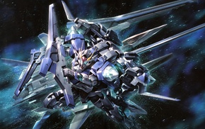 space, Gundam, mech, Mobile Suit Gundam 00, robot, anime