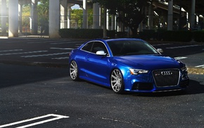 rims, Audi RS5, Stance, Audi, blue