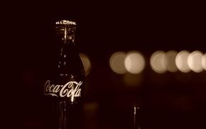 Coca, Cola, bottles, bokeh