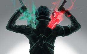 sword, Kirigaya Kazuto, duelist, anime, Sword Art Online
