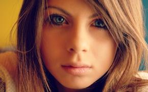 девушка, блондинка, лицо, глаза, зеленые глаза, голубые глаза