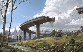 deer, artwork, apocalyptic, desolation, The Last of Us, ruin