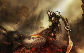 воин, меч, фантастическое исскуство, цифровое искусство, произведение искусства