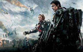 futuristic, movies, Tom Cruise, Edge of Tomorrow, Emily Blunt