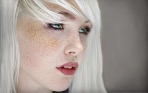 freckles, blonde, green eyes, girl, Devon Jade