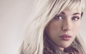 face, girl, Devon Jade, platinum blonde