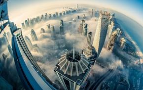 sea, Dubai, clouds, urban, architecture, building