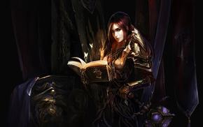 Paladin, fantasy art, Warcraft, girl