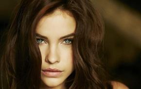 girl, Barbara Palvin, model, face, brunette