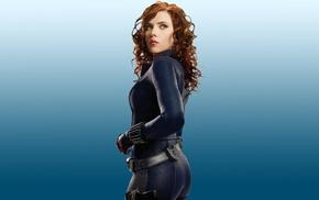 superheroines, Scarlett Johansson, latex, redhead, Iron Man 2, lipstick