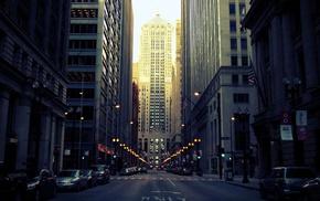 road, Chicago, urban, architecture, building