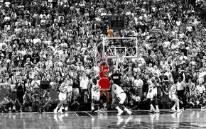 selective coloring, basketball, Chicago Bulls, Michael Jordan