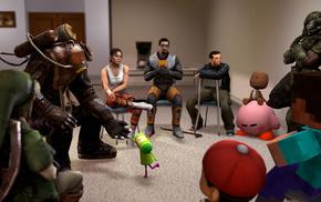 Half, Life, Portal, Gordon Freeman, LittleBigPlanet, Link