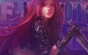 redhead, League of Legends, video games, Katarina, Chenbo