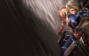 Samus Aran, video games, Metroid, bodysuit, fantasy art, power armor
