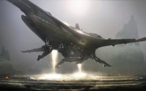 чужие, фантастическое исскуство, космический корабль, научная фантастика, концептуальное искусство