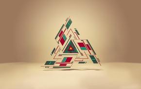треугольник, геометрия, абстрактные