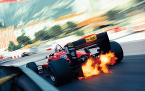 Monaco, motion blur, motorsports, car, Ferrari, racing