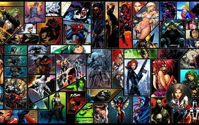DC Comics, Deadpool, Captain America, Green Lantern, Silver Surfer, Supergirl